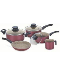 Batería de cocina 5 piezas - Paris Roja Tramontina