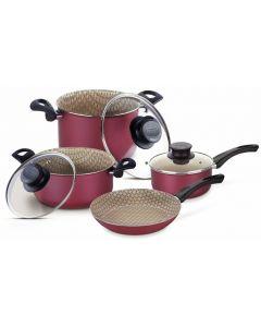 Batería de cocina 7 piezas - Paris Roja Tramontina