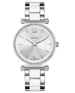 Reloj Loix Para Dama Plateado/blanco